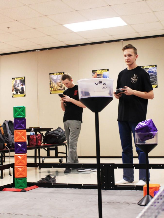AJ McNeal is the captain of the robotics team and pilots the robot the students have built. He is the only one who pilots the robot in competitions.