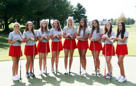 The Nixa Girls Golf team.