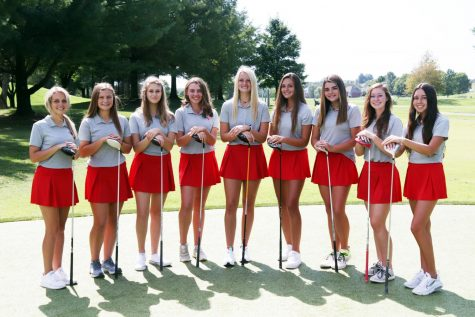 The Nixa Girls Golf team.