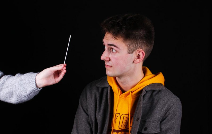 Junior Lucas Finger, son of band teacher Craig Finger, was tested for COVID-19 at Nixa High School.