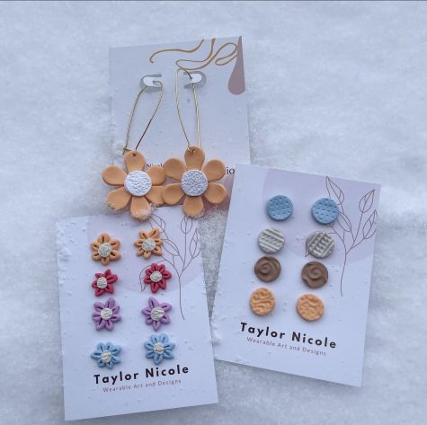 Senior Taylor Golmen makes her earrings out of polymer clay and sells them in boutiques